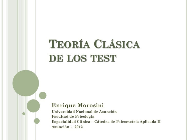 Teoría clásica de los test