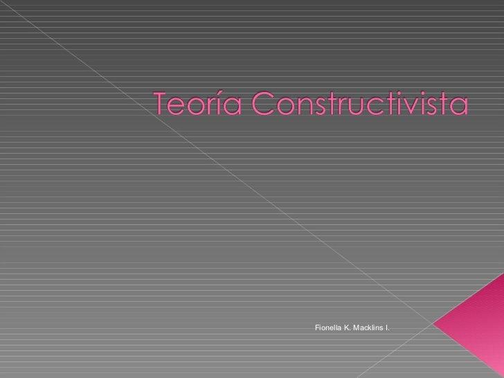 Teoría constructivista