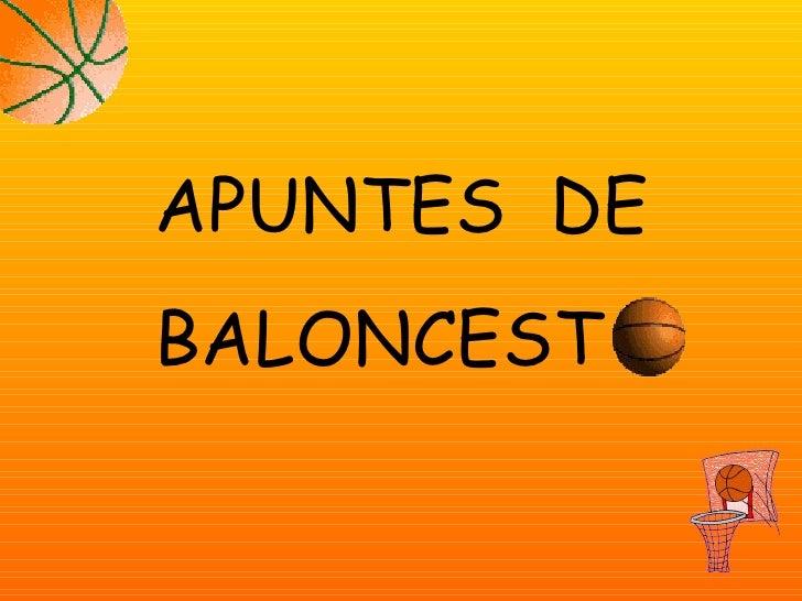 APUNTES  DE BALONCEST