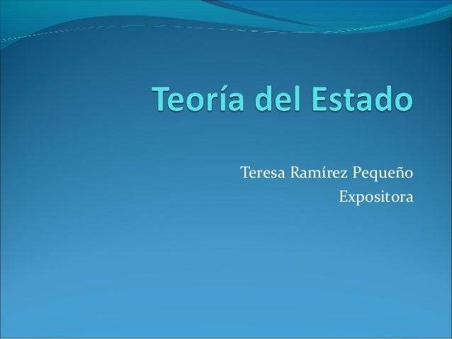 Teresa Ramírez Pequeño Expositora