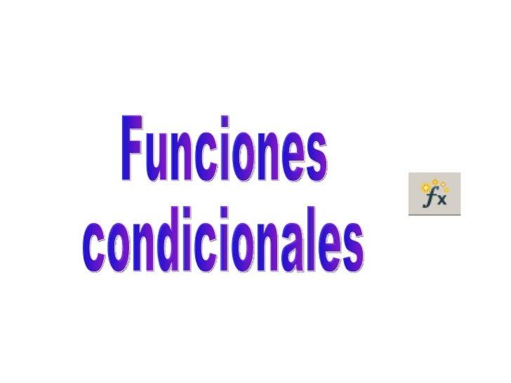 Teoría funciones condicionales