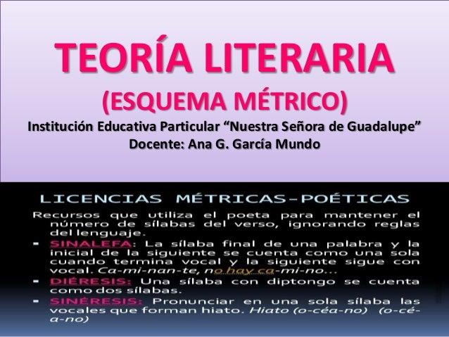Teoría literaria (esquema métrico)