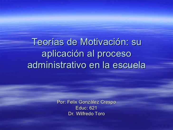 TeoríAs De MotivacióN PresentacióN
