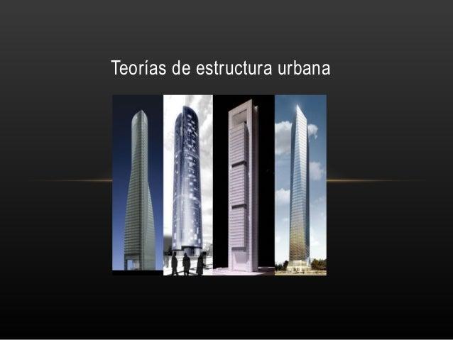 Teorías de estructura urbana     Profesor tutor: José Luis Romero Carretero          Centro Asociado de Madrid Sur        ...
