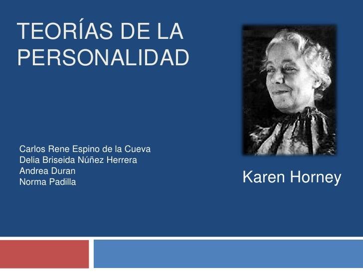 Teorías de la personalidad karen horney