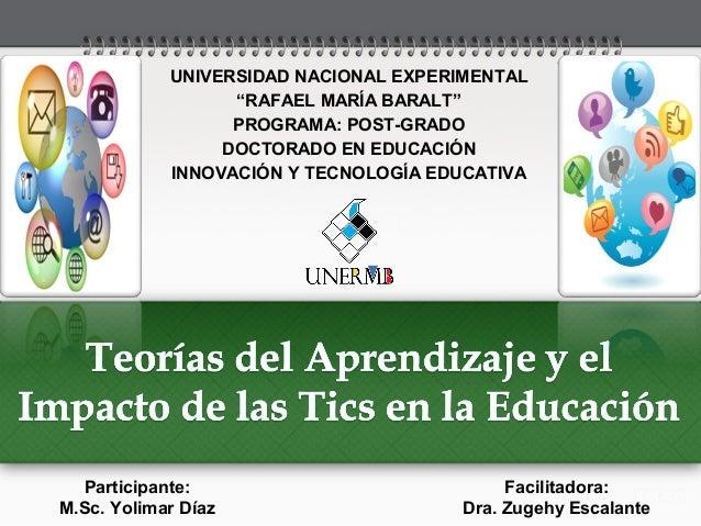 """UNIVERSIDAD NACIONAL EXPERIMENTAL """"RAFAEL MARÍA BARALT"""" PROGRAMA: POST-GRADO DOCTORADO EN EDUCACIÓN INNOVACIÓN Y TECNOLOGÍ..."""