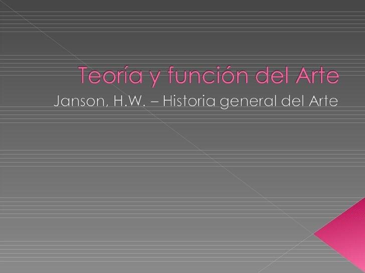 Teoría y función del arte clase 1