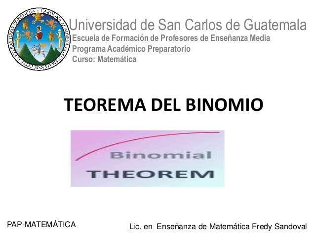 Universidad de San Carlos de Guatemala             Escuela de Formación de Profesores de Enseñanza Media             Progr...