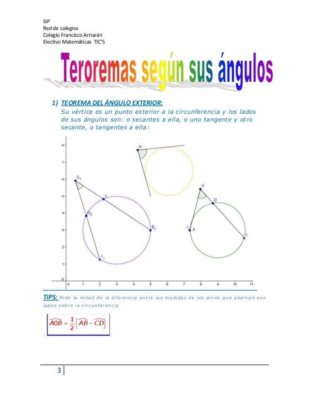 Teorema de los angulos de la circunferencia 4 for Exterior a la circunferencia