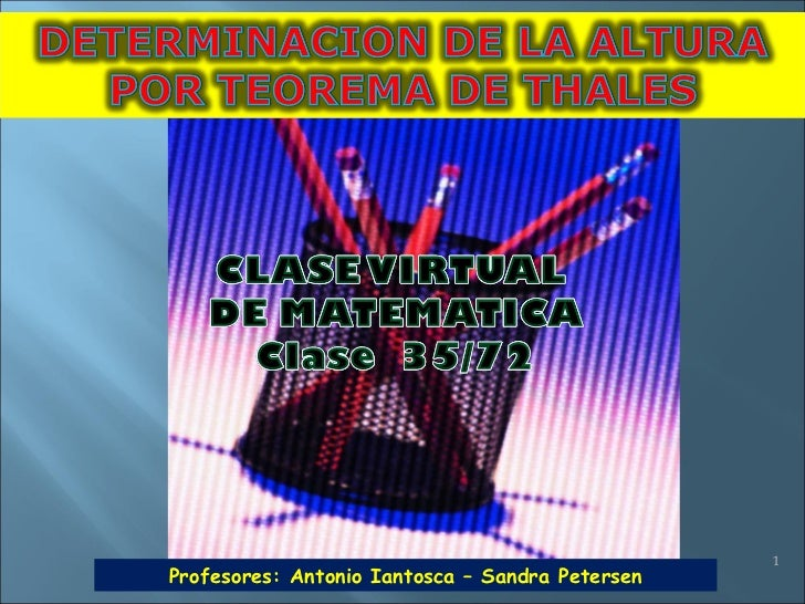 Profesores: Antonio Iantosca – Sandra Petersen