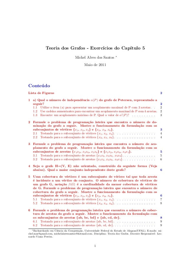 Graph Theory - Exercises - Chapter 5