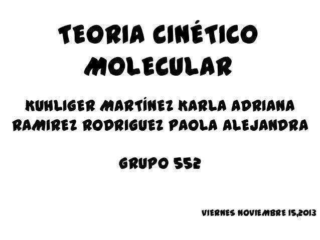 Teoria Cinetico Molecular