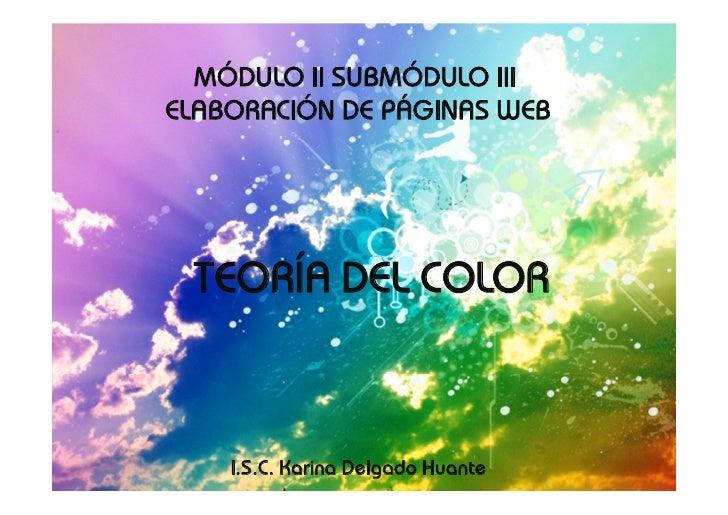 Teoría del Color y Modelos de Colores