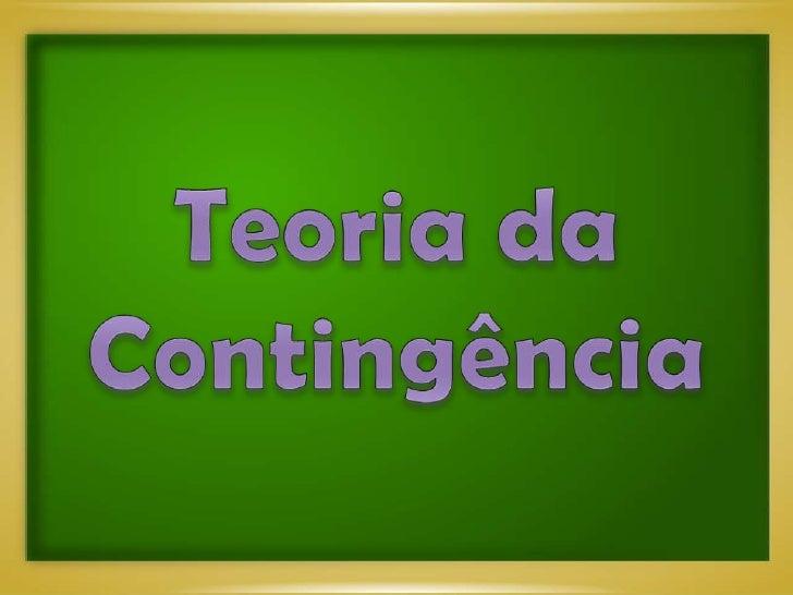 Teoria Contingencial