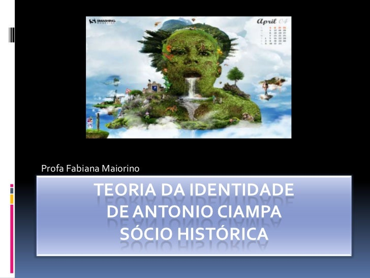 Profa Fabiana Maiorino           TEORIA DA IDENTIDADE            DE ANTONIO CIAMPA             SÓCIO HISTÓRICA