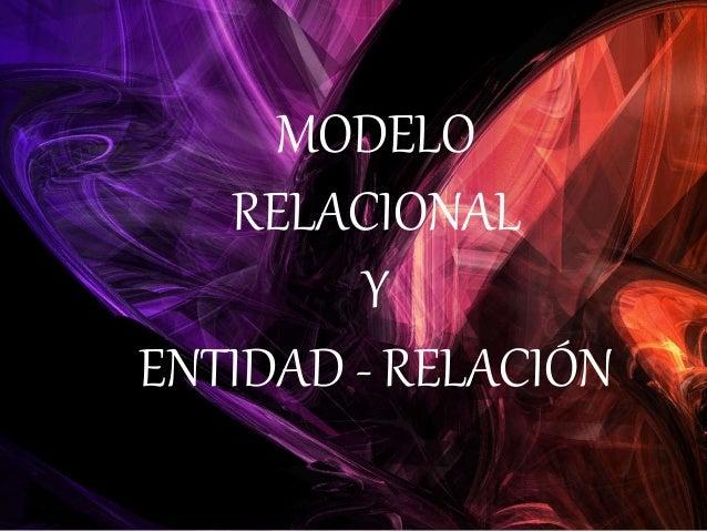 Relacional y E-R