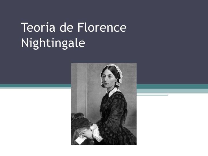 Teoría de FlorenceNightingale