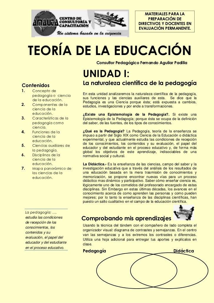Teoria de la educacion por: CCC Amauta-compendio