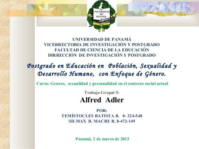 UNIVERSIDAD DE PANAMÁ VICERRECTORIA DE INVESTIGACIÓN Y POSTGRADO FACULTAD DE CIENCIA DE LA EDUCACIÓN DIRRECCIÓN DE INVESTI...