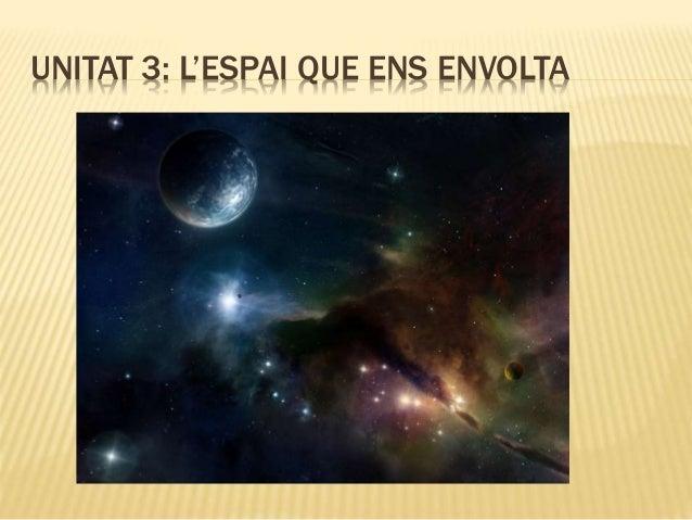 UNITAT 3: L'ESPAI QUE ENS ENVOLTA