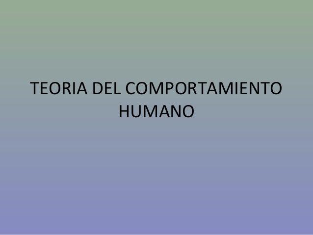 Teoria del comportamiento humano