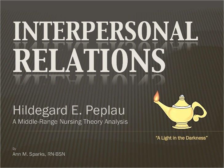 Teoria de Peplau. relaciones interpersonales