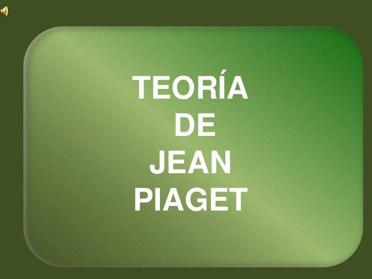 TEORÍA  DE JEANPIAGET