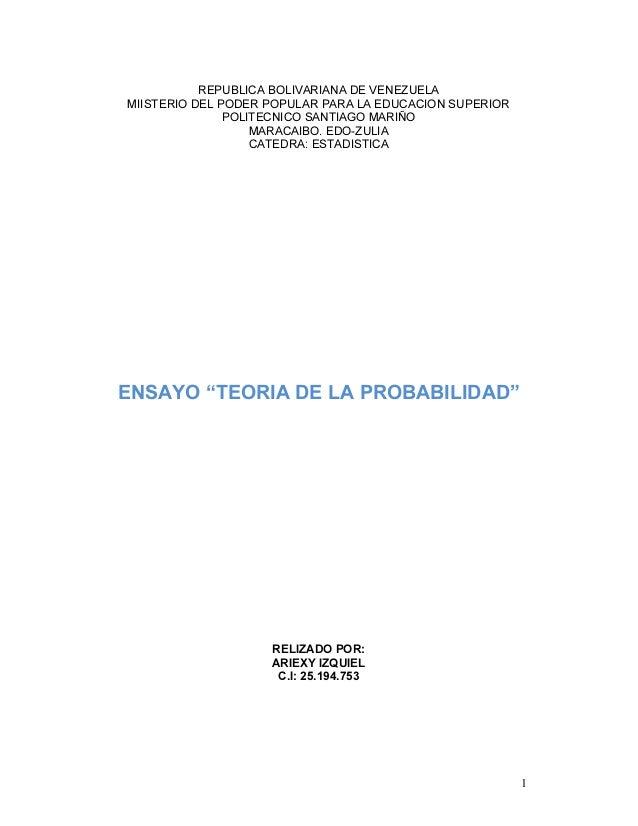 1 REPUBLICA BOLIVARIANA DE VENEZUELA MIISTERIO DEL PODER POPULAR PARA LA EDUCACION SUPERIOR POLITECNICO SANTIAGO MARIÑO MA...