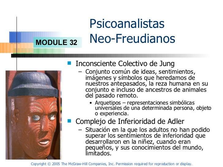 Psicoanalistas  Neo-Freudianos <ul><li>Inconsciente Colectivo de Jung </li></ul><ul><ul><li>Conjunto común de ideas, senti...