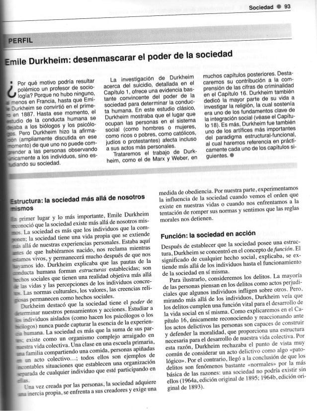 Sociedad I     S                                      sociedad              desenmascararpoderde la   le Durkheim:        ...