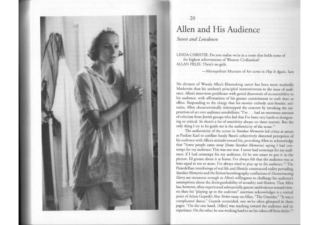 Teoria e analisi del cinema 4. allen and his audience   bailey the reluctant film art of wa 2