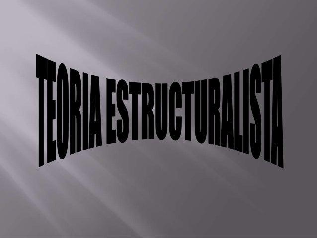 Teoria estructuralista