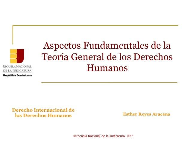 Aspectos Fundamentales de la           Teoría General de los Derechos                     HumanosDerecho Internacional de ...
