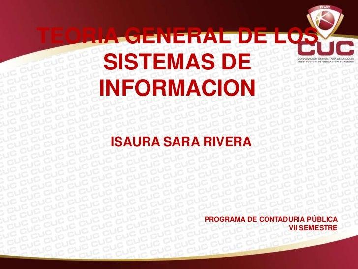 Teoria general de los sistemas de informacion