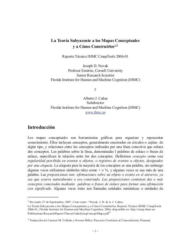 Teoria mapas conceptuales cmap tools