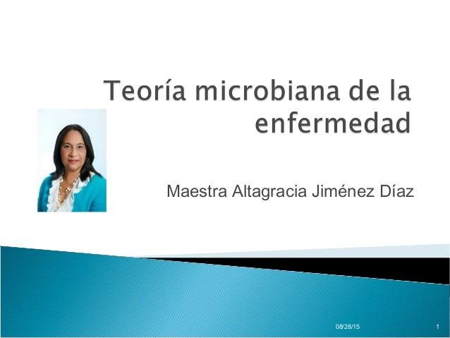 Maestra Altagracia Jiménez Díaz 08/28/15 1