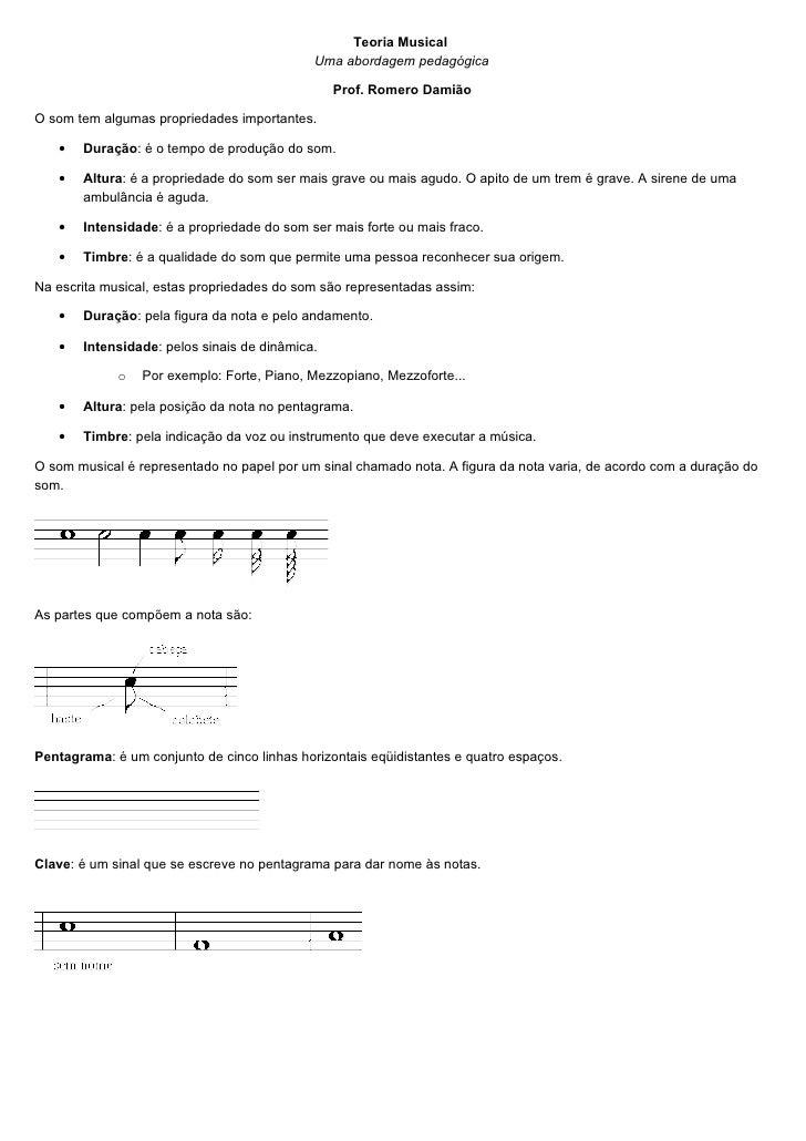 Teoria Musical                                              Uma abordagem pedagógica                                      ...