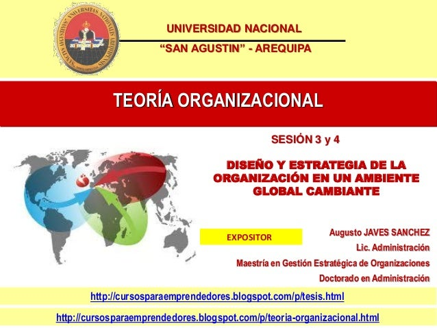 "UNIVERSIDAD NACIONAL                       ""SAN AGUSTIN"" - AREQUIPA            TEORÍA ORGANIZACIONAL                      ..."