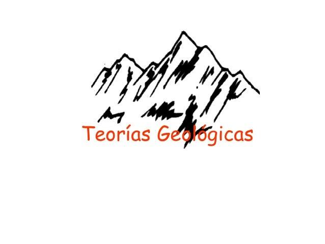 Teorías Geológicas