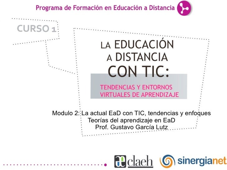 Teorías del aprendizaje en Educación a Distancia