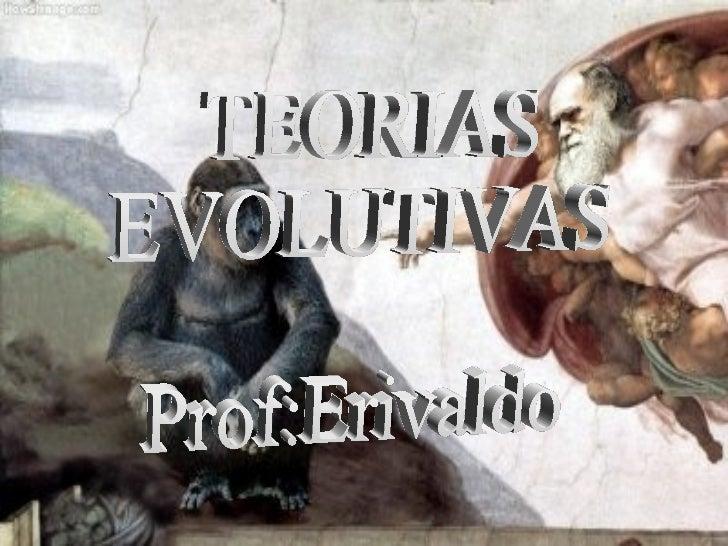 Teorias evolutiva serem