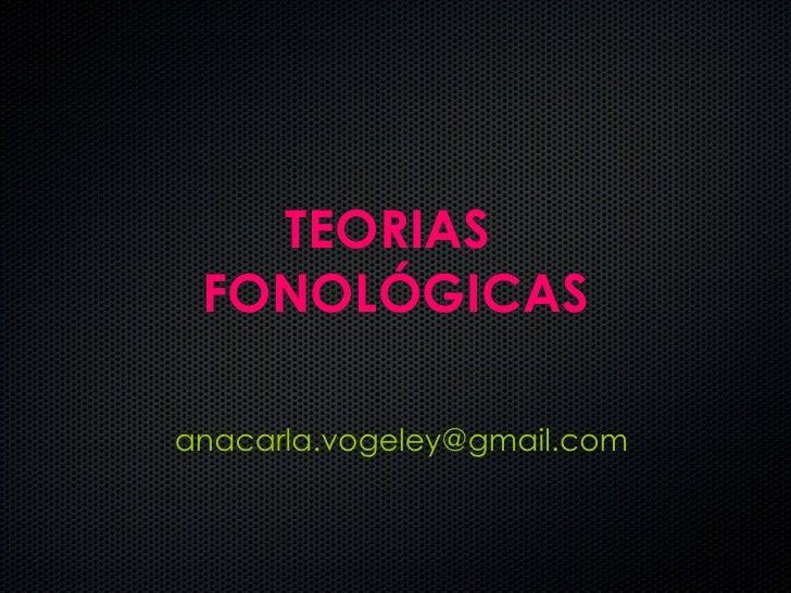 Teorias fonologicas