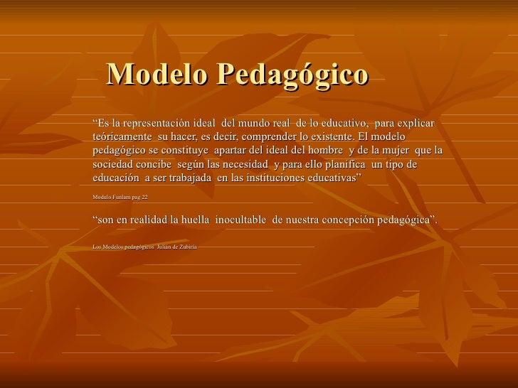 Teorias Y Modelos Pedagogicos