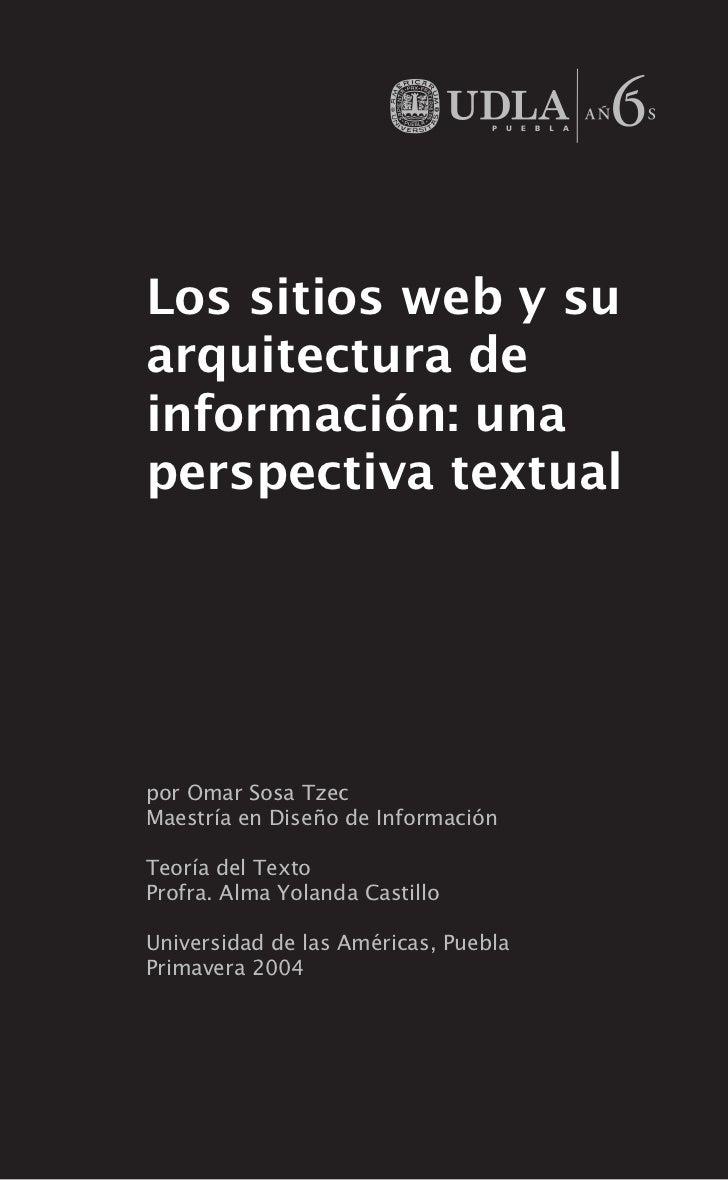 Arquitectura de Información y Teoría del Texto