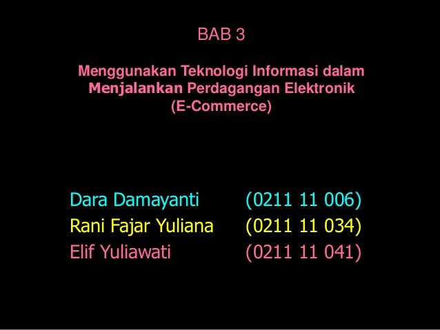 Teori bab 3 sistem informasi manajemen