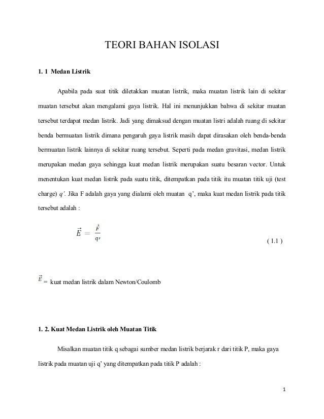 Teori bahan isolasi-Syamsir Abduh