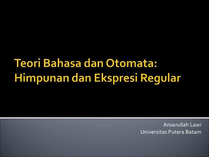 Ansarullah Lawi Universitas Putera Batam
