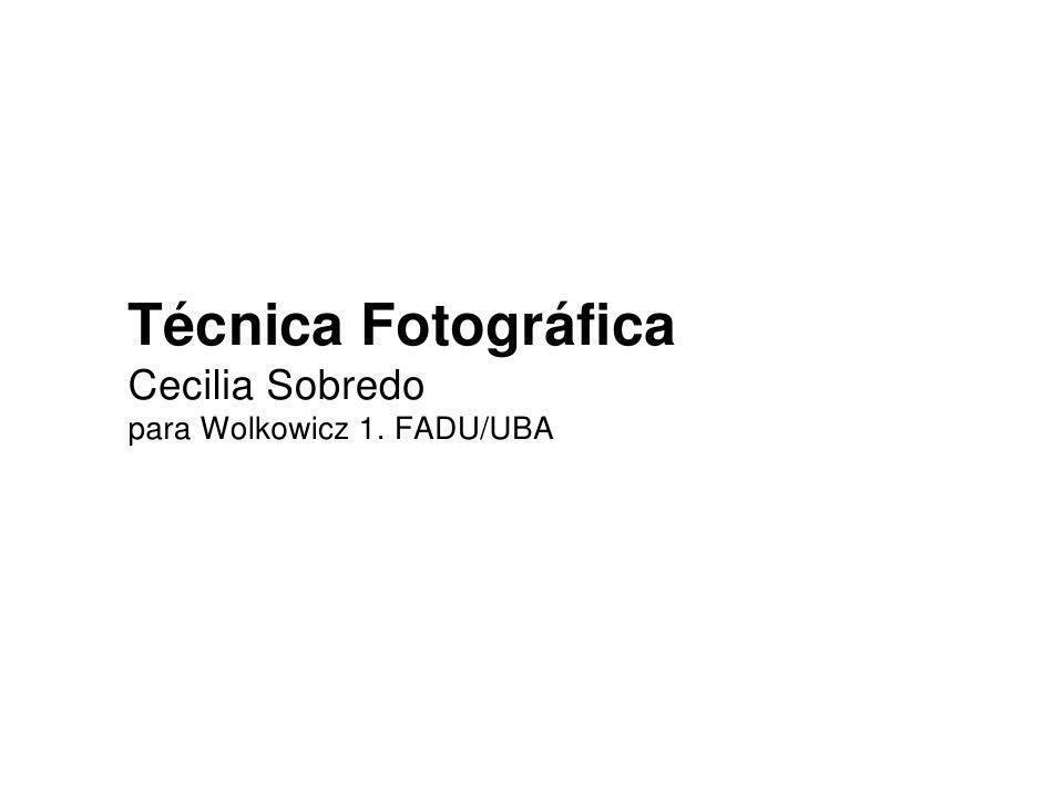 Teorica tecnicas fotograficas