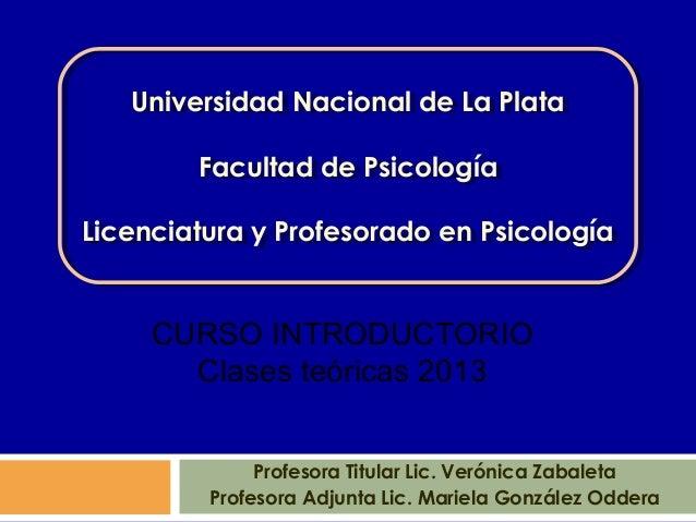 Universidad Nacional de La Plata   Universidad Nacional de La Plata        Facultad de Psicología        Facultad de Psico...