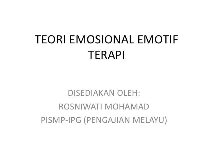 Teori emosional emotif terapi